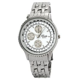 "Breda Men's silv ""Damion"" dressy chronograph-look watch"