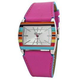 Breda Women's pink Jasmine colorful leather strap watch