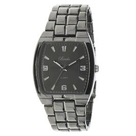"Breda Men's blk ""Liam"" square case bracelet watch"