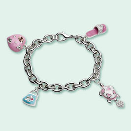 Carlo Gioielliere  Pink charm bracelet